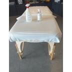 Housse vinyl lavable blanche