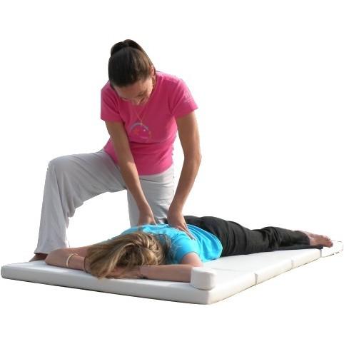 tapis de massage au sol