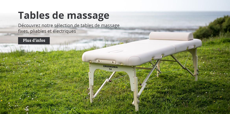 Tables de massage portables, fixes et électriques